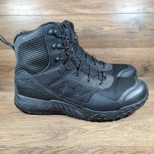 Under Armour Mens Valsetz Black Side Zip Tactical Winter Boots Men's Size 9.5
